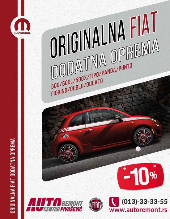 Reklama FIAT DODATNA OPREMA